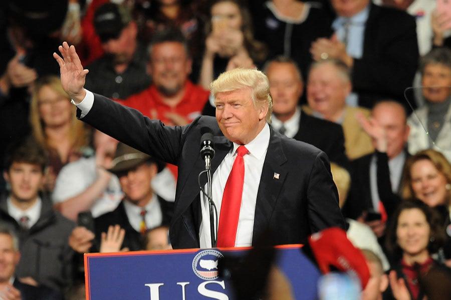 美國當選總統特朗普登上法新社2016年年度最具影響力人物榜首。(Steve Pope/Getty Images)