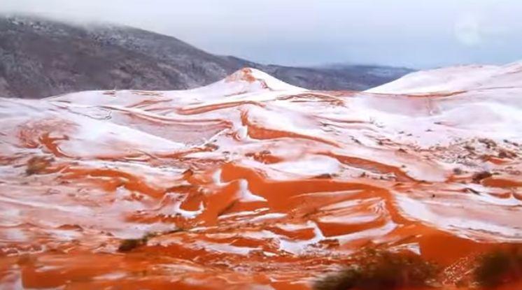 時隔37年 撒哈拉沙漠降雪奇景驚呆村民