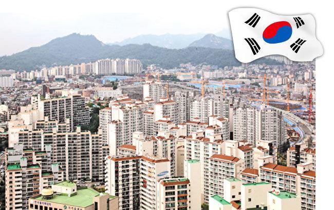 圖為韓國首爾公寓群。(全景林/大紀元)