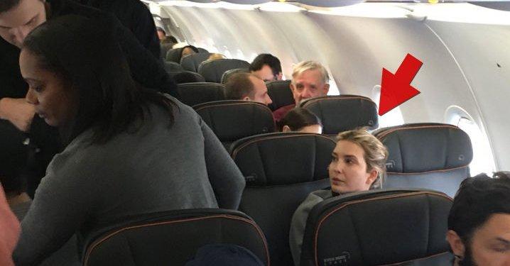 伊萬卡乘普通航班遭遇騷擾 沉默應對