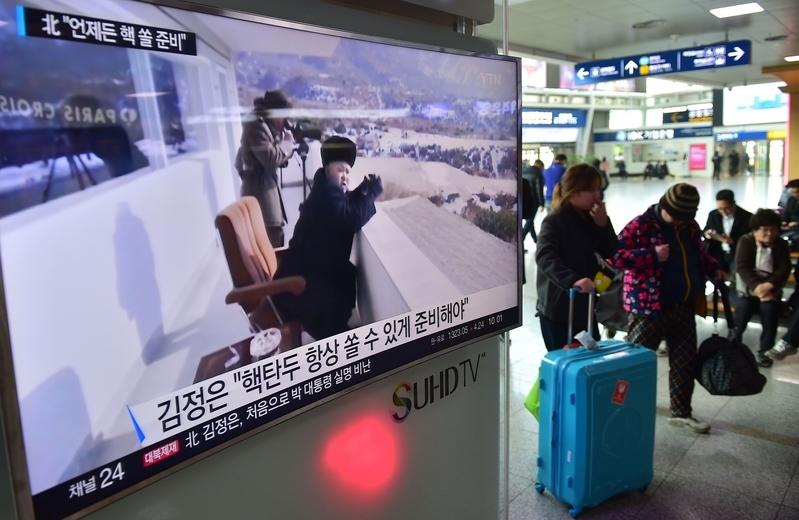 12月27日,前北韓駐英國公使太永浩在首爾表示,只要金正恩在位,北韓就不會放棄發展核武。(JUNG YEON-JE/AFP/Getty Images)
