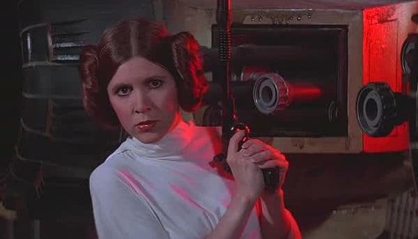 《星戰4:曙光乍現》的「莉亞公主」。(維基百科)