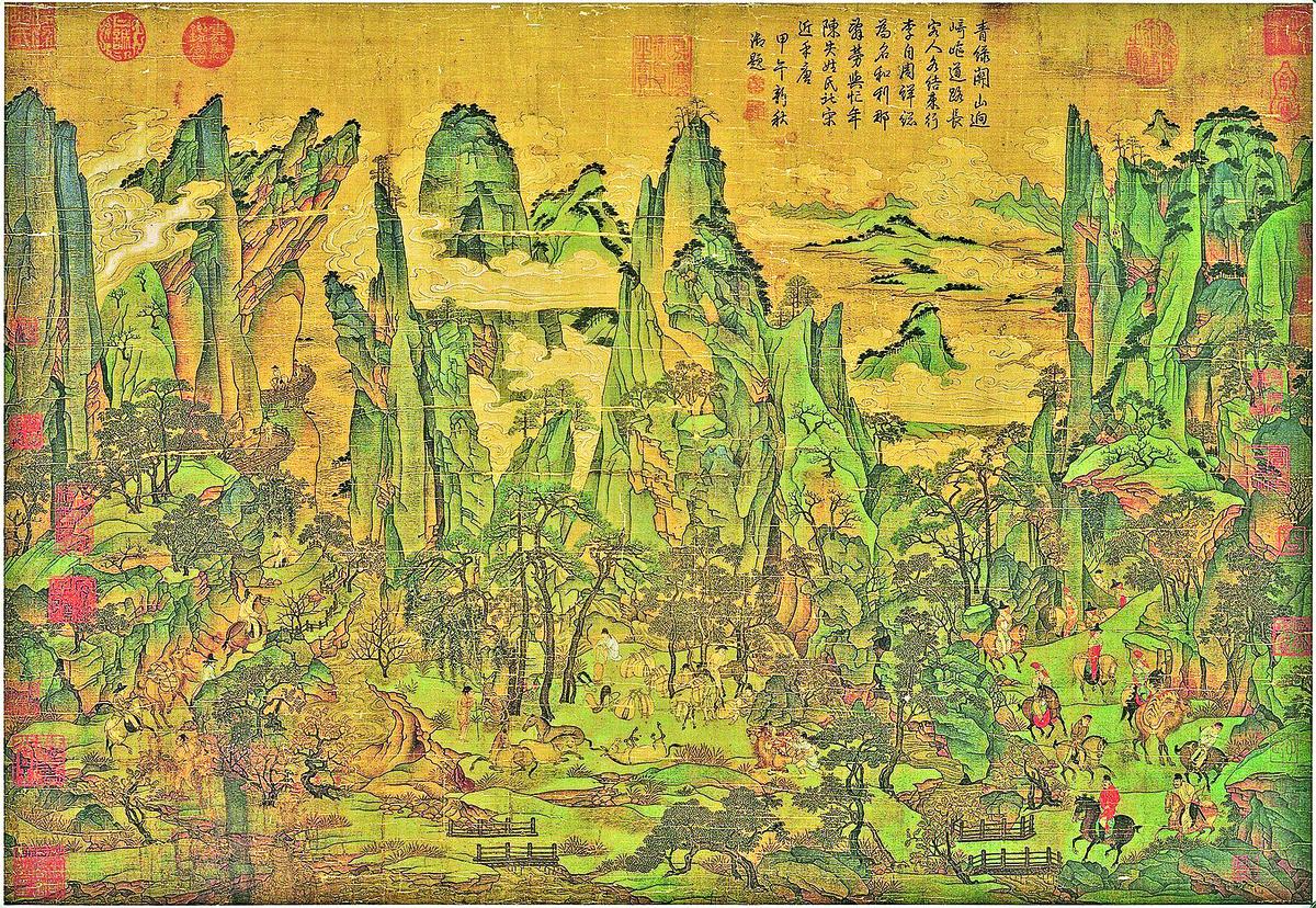 明皇幸蜀圖 (局部)(維基百科)