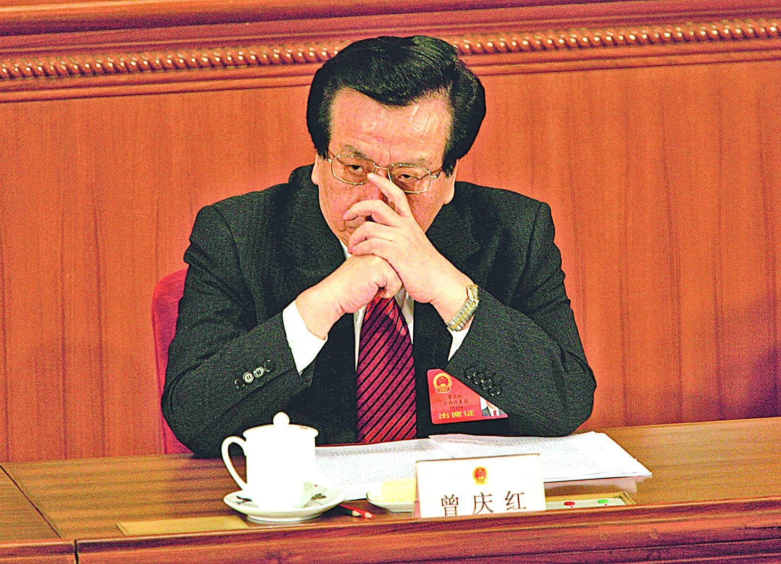 曾慶紅一直給江澤民鎮壓法輪功出謀劃策,台前幕後不遺餘力,是執行迫害的罪大惡極的幾大元兇之一。(Getty Images)
