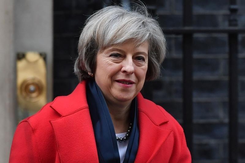 圖為英國首相文翠珊。(BEN STANSALL/AFP/Getty Images)