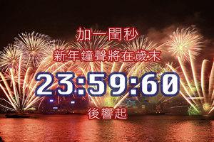 加一閏秒 新年鐘聲將在歲末23:59:60後響起