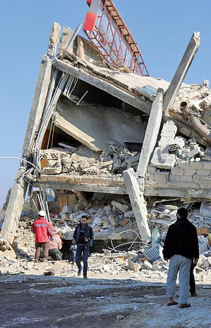 敘利亞伊德利布的人道組織無國界醫生(MSF)的2個醫療設施遭到轟炸。(AFP)