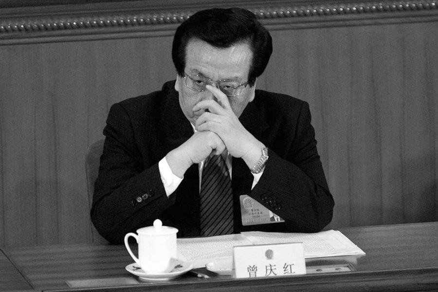 2月7日,中共社科院前副院長江流遺體火化。江流曾擔任中共中央黨校校委委員,但在送其花圈的名單上唯獨不見曾擔任黨校校長的曾慶紅,引起外界猜測。(Cancan Chu/Getty Images)