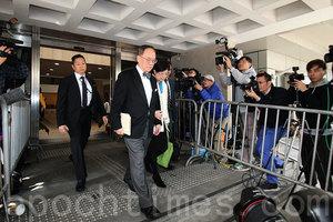 涉貪案開庭 香港前特首曾蔭權否認控罪