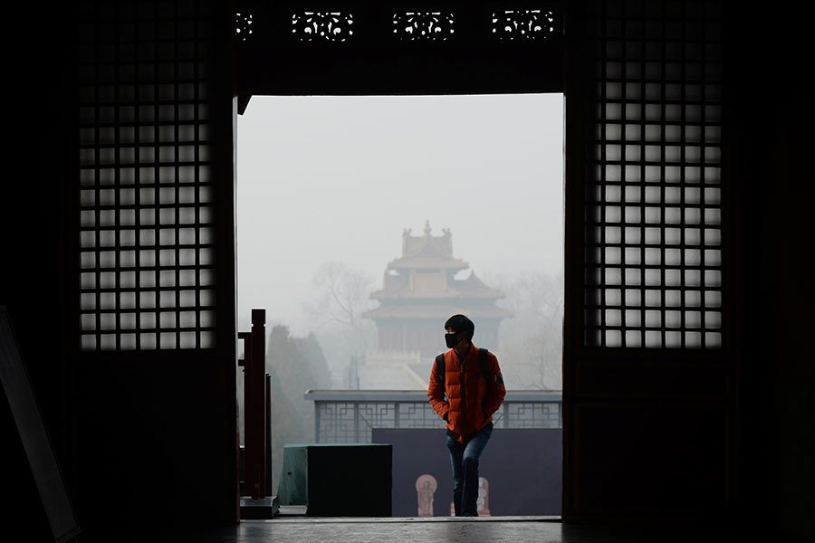 2016年歲末習近平的人馬已佔領多個直轄市、重要省份「政治高地」的要職。圖為,2016年12月21日,北京故宮。(WANG ZHAO/AFP/Getty Images)