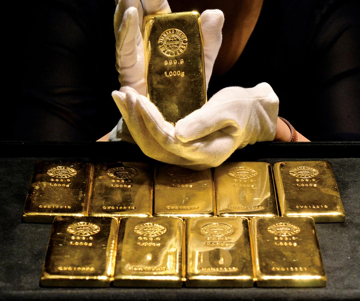 資金流向顯示,2016年12月全球最大的黃金ETF基金SPDR Gold Shares持倉量續減22.7億美元,創2013年以來之最且為連續第三個月降持。(大紀元資料圖片)