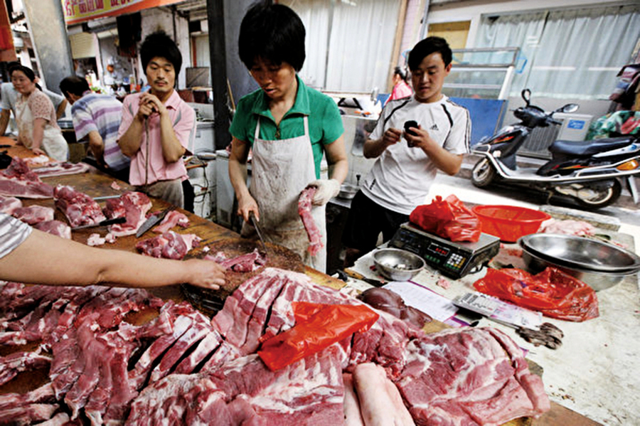 陸開年通貨膨脹豬肉價格上漲