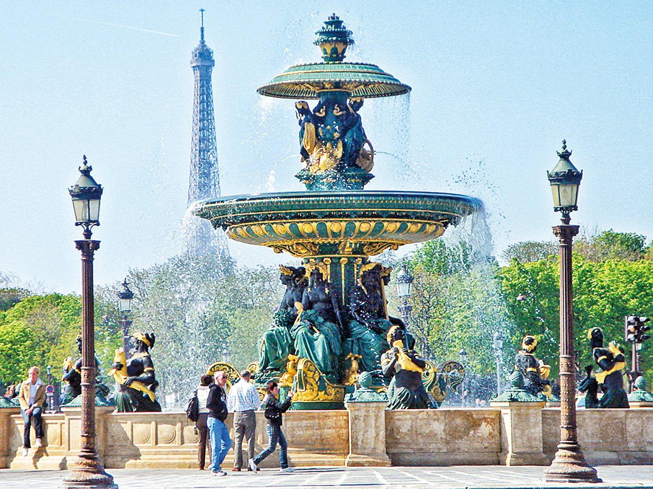巴黎協和廣場上的噴泉。(公共領域)