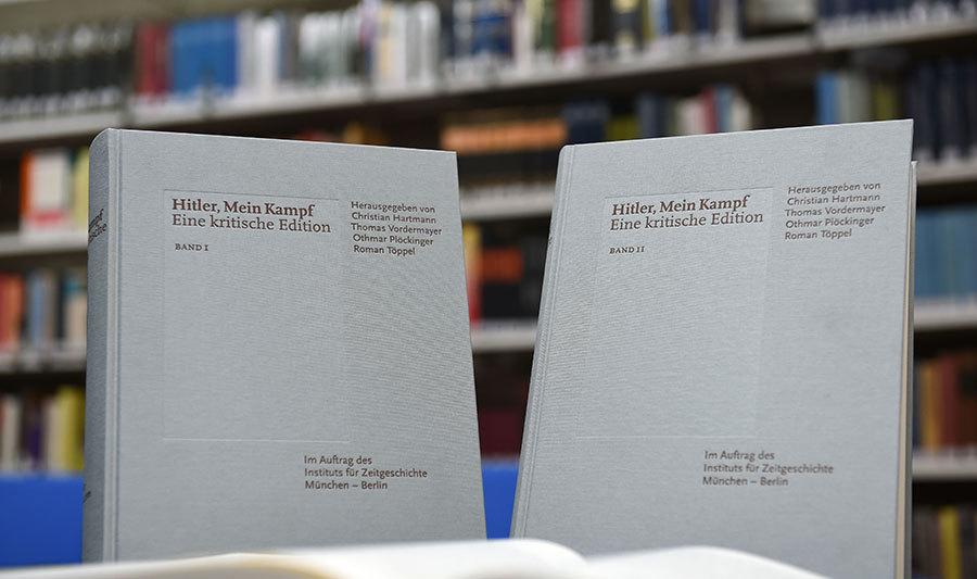 希特拉《我的奮鬥》評註版在德國發行了一年時間,售出八萬五千本。(CHRISTOF STACHE/AFP/Getty Images)