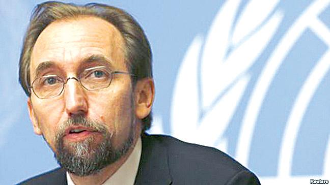 聯合國人權事務高級專員紮伊德‧拉阿德‧侯賽因(資料照片)