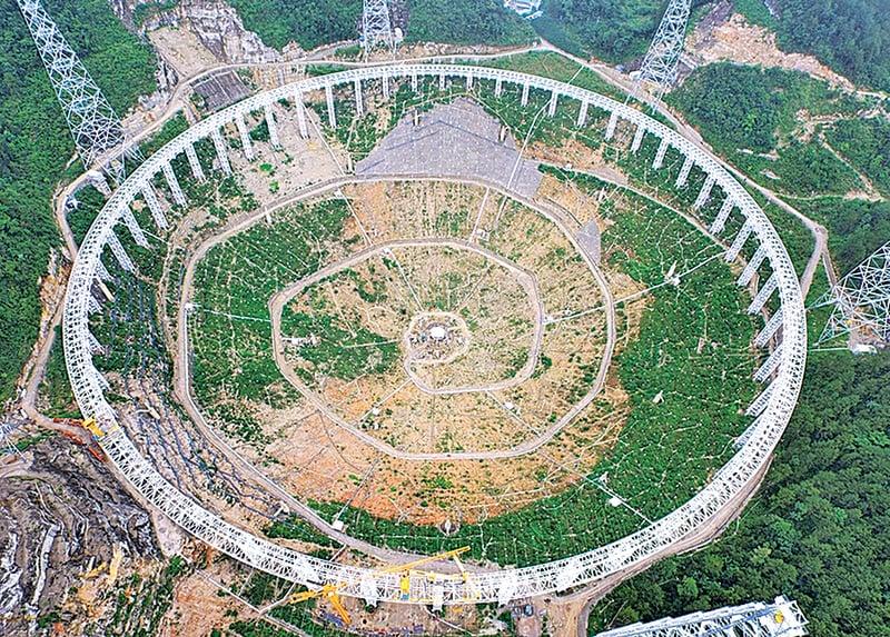 位於貴州平塘的巨大天文望遠鏡FAST。(AFP)