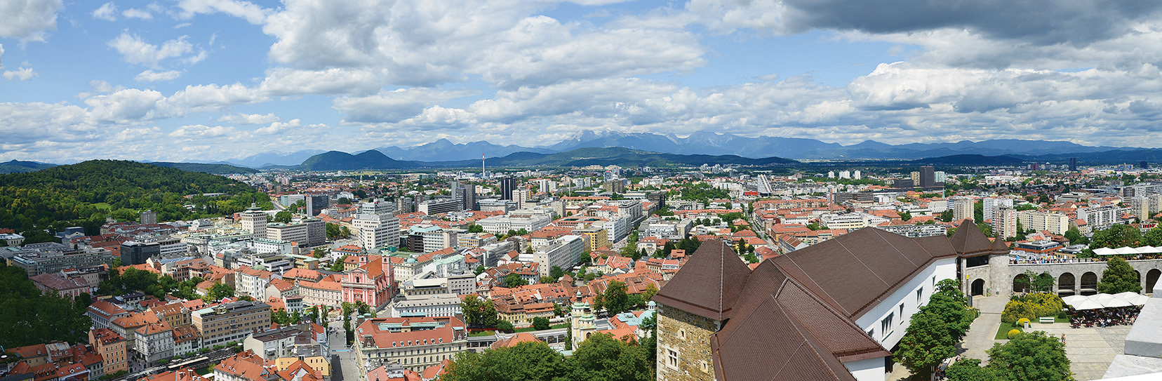 斯洛文尼亞迷你首都盧比安納。(Miran Rebrec/維基百科)