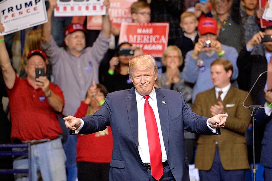 2017年1月6日,美國國會聯席會議確認,特朗普以304票當選第45任總統。(Sara D. Davis/Getty Images)