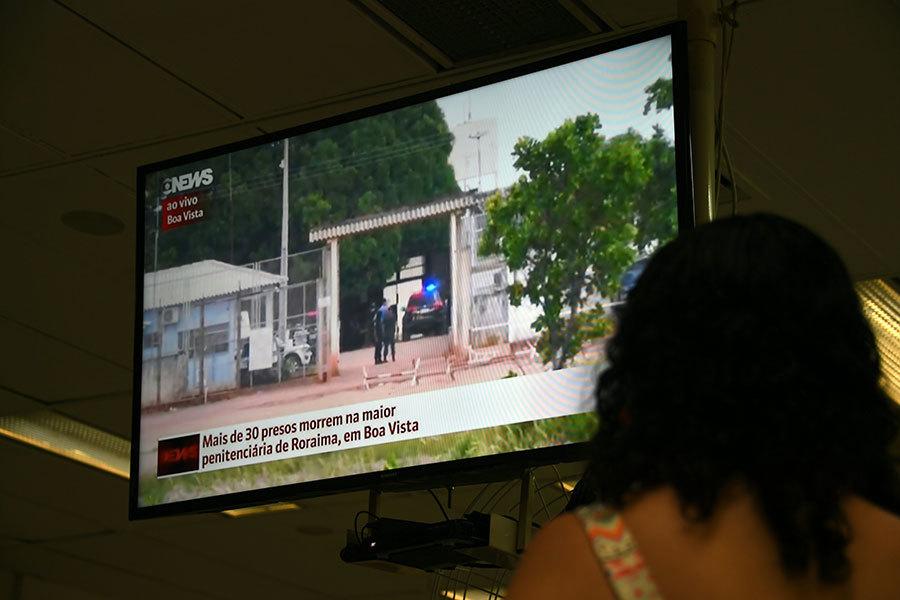 1月6日巴西再有監獄發生暴動,羅來馬州(Roraima)首府好景市農村監獄6日凌晨再有33名囚犯被殺。(VANDERLEI ALMEIDA/AFP/Getty Images)