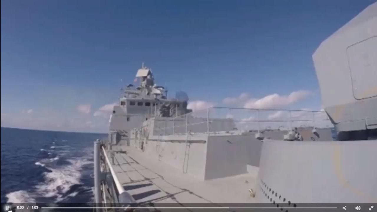 俄羅斯國防部6日表示,接到總統普京的命令,將縮減駐敘利亞的軍隊,航空母艦「庫茲涅佐夫號」(Admiral Kuznetsov)將率先撤回。(視像擷圖)