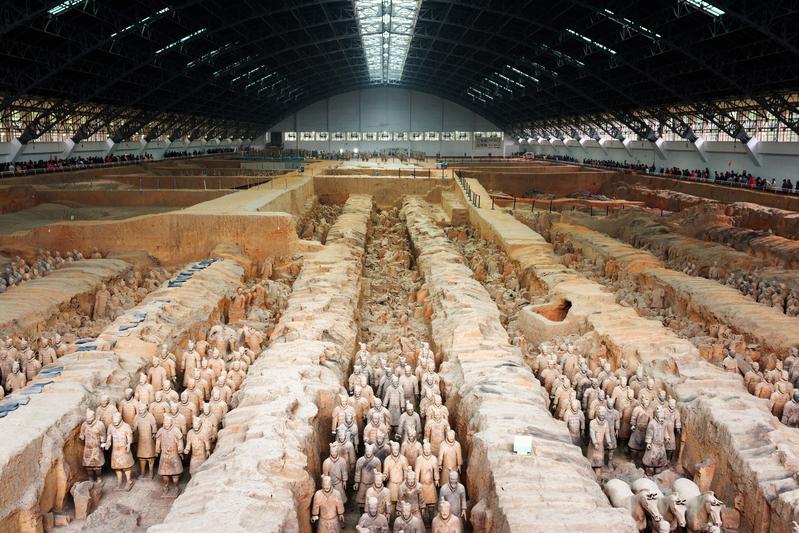 中國陝西省西安市兵馬俑,為中國第一位皇帝秦始皇陵。(fotolia)