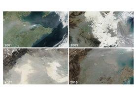 組圖:NASA追蹤中國陰霾十五年 變化觸目驚心