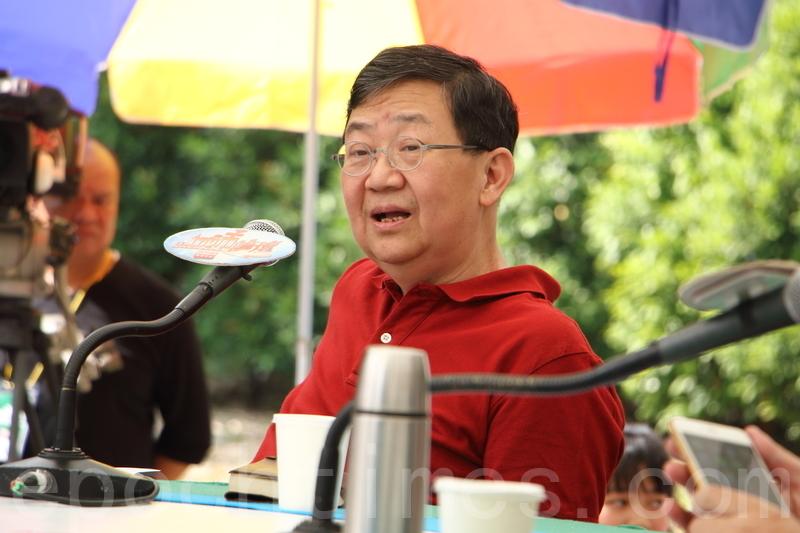 何慶基形容今次西九建故宮是「霸王硬上弓」,強調雖然他希望見到故宮在香港,但是若要放棄公平公正的原則,寧願不要。(蔡雯文/大紀元)