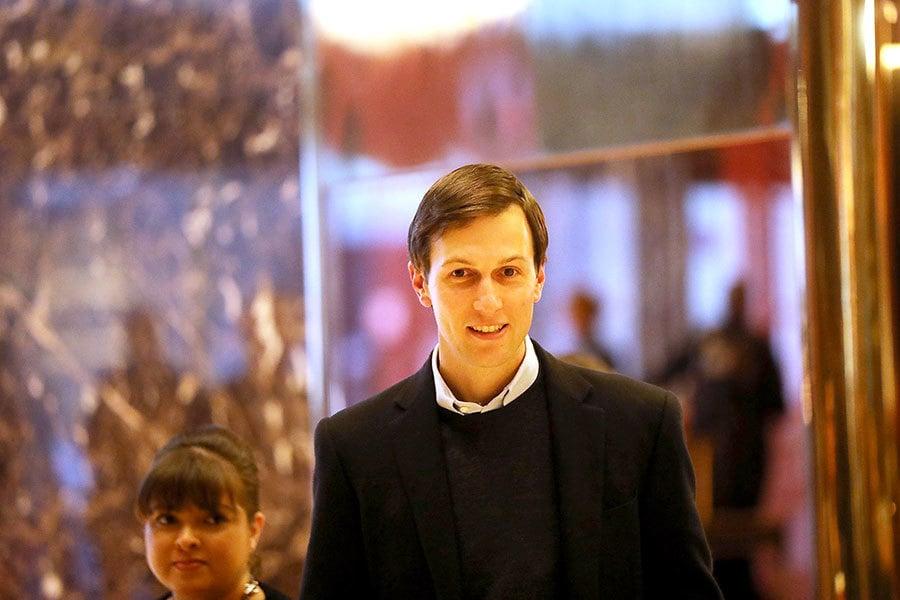 一名美國侯任總統唐納德・特朗普(川普)過渡團隊高級官員向NBC和CNN新聞確認,特朗普的女婿傑瑞德・庫什納(Jared Kushner)將被任命為總統的高級顧問。(Spencer Platt/Getty Images)