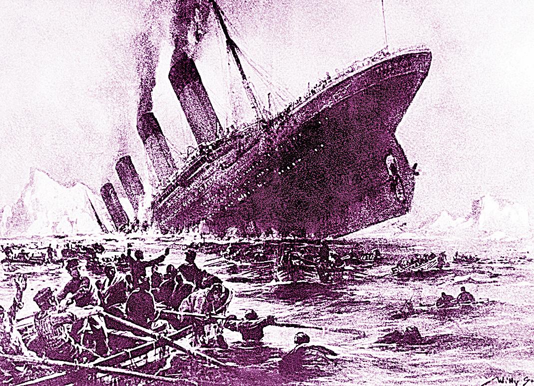 鐵達尼號沉船是諸多非常因素共同引起,包括火災、冰山和船員疏忽等。(AFP)