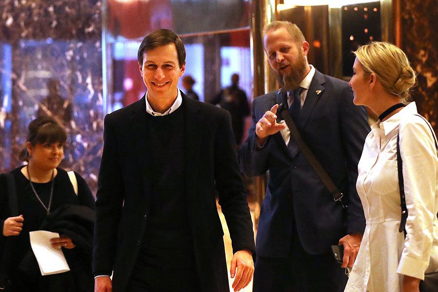 特朗普決定任命女婿庫什納出任白宮高級顧問,美國法律界對這個任命是否違反一項50年之久的聯邦法律看法不一。(Spencer Platt/Getty Images)