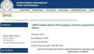 特朗普上任前 美對兩家中國企業展開侵權調查