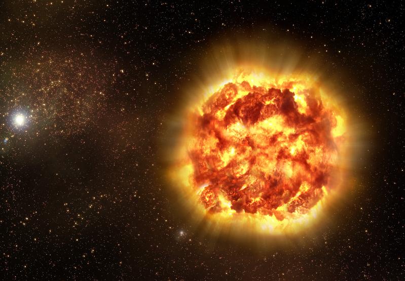 模擬圖:超新星(星體爆炸)的殘骸(公共領域)
