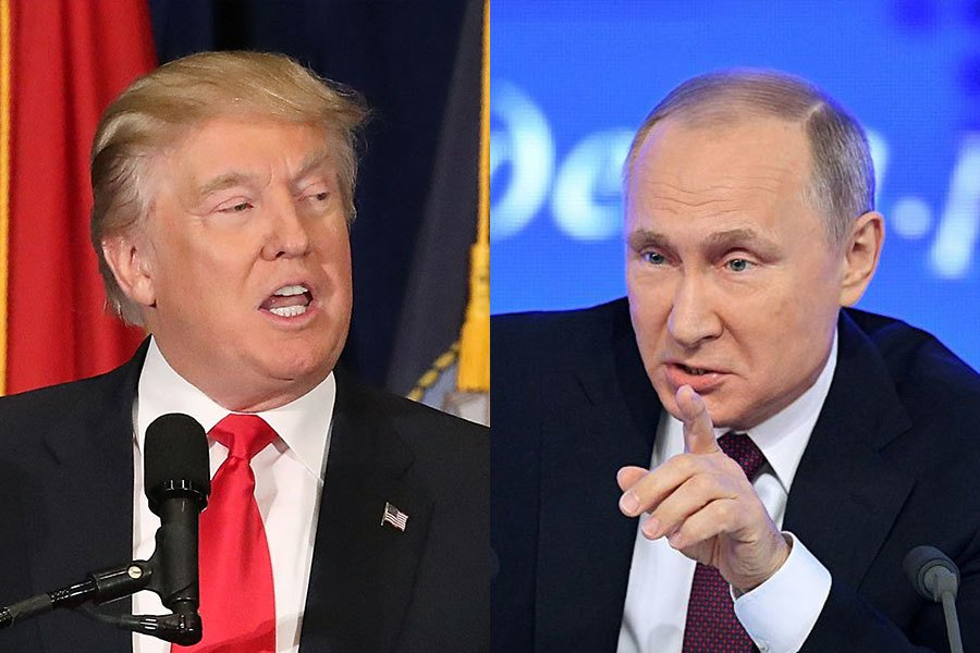 克里姆林宮2月13日(周一)說,在今年7月舉行的G20峰會前,普京有望會見特朗普。(Getty Images)