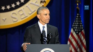 奧巴馬告別演說感性爆發 經典語句不斷