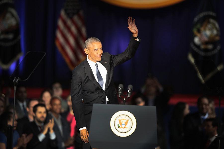 奧巴馬告別演說 多次提及「民主」