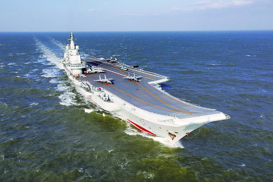 遼寧艦經台灣海峽北返