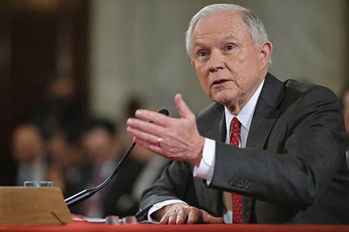 在聽證會上,以強硬的移民觀點著稱的塞申斯,重申堅決反對大赦非法入境者。(Getty Images)