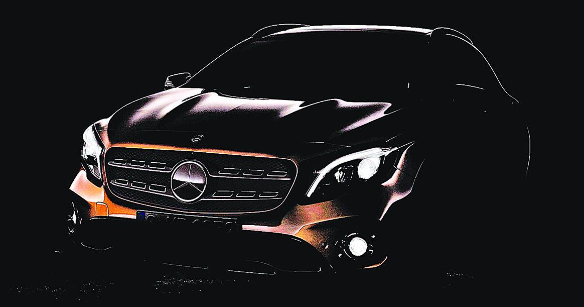 近日Mercedes-Benz公佈的GLA剪影廠照。(M-Benz)