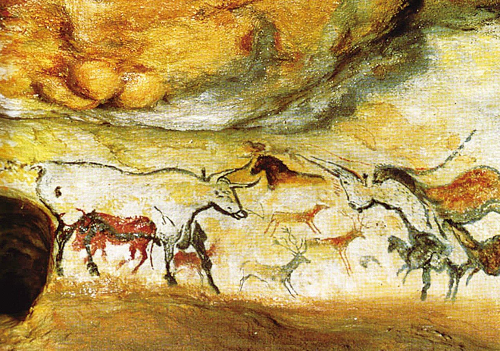 法國南部拉斯科山洞的岩洞壁畫。(網絡圖片)