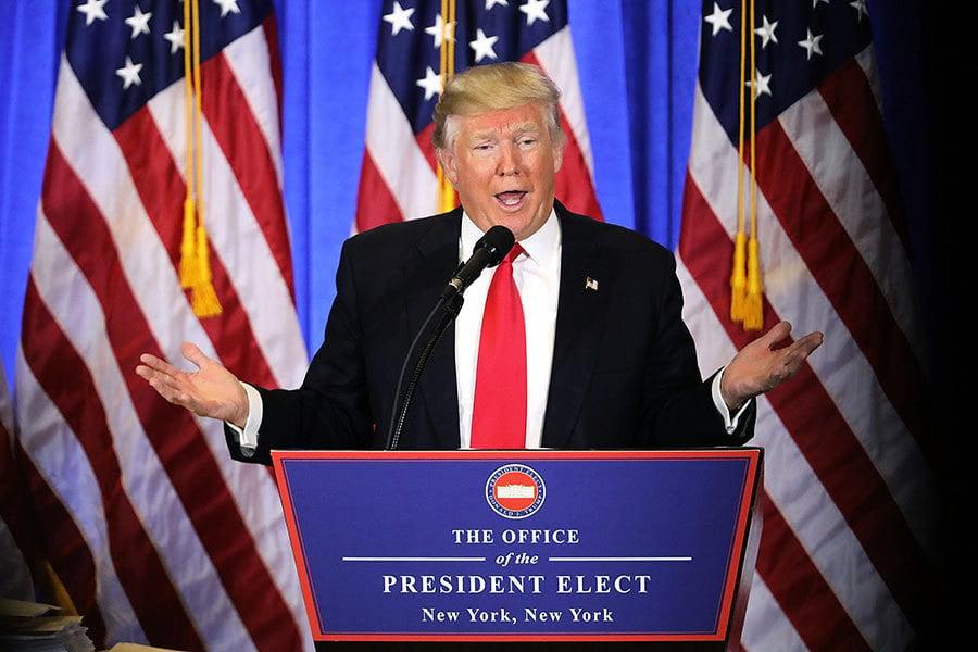 遭民權領袖質疑當選合法性 特朗普開砲反擊