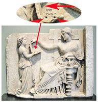 古希臘雕像疑現筆電