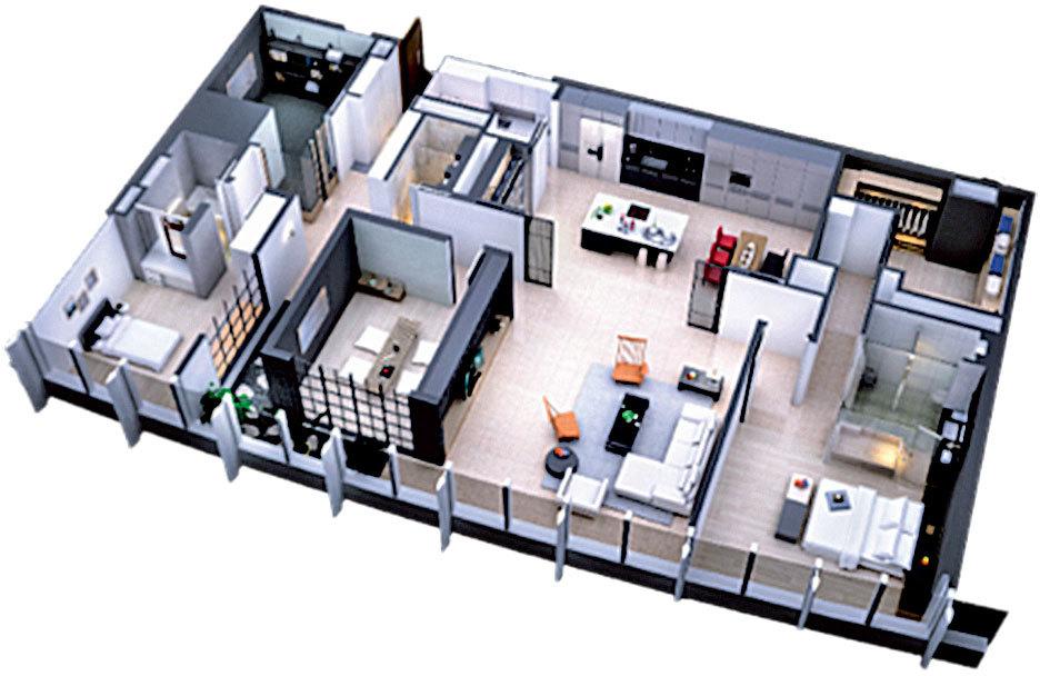 100C型的室內設計圖