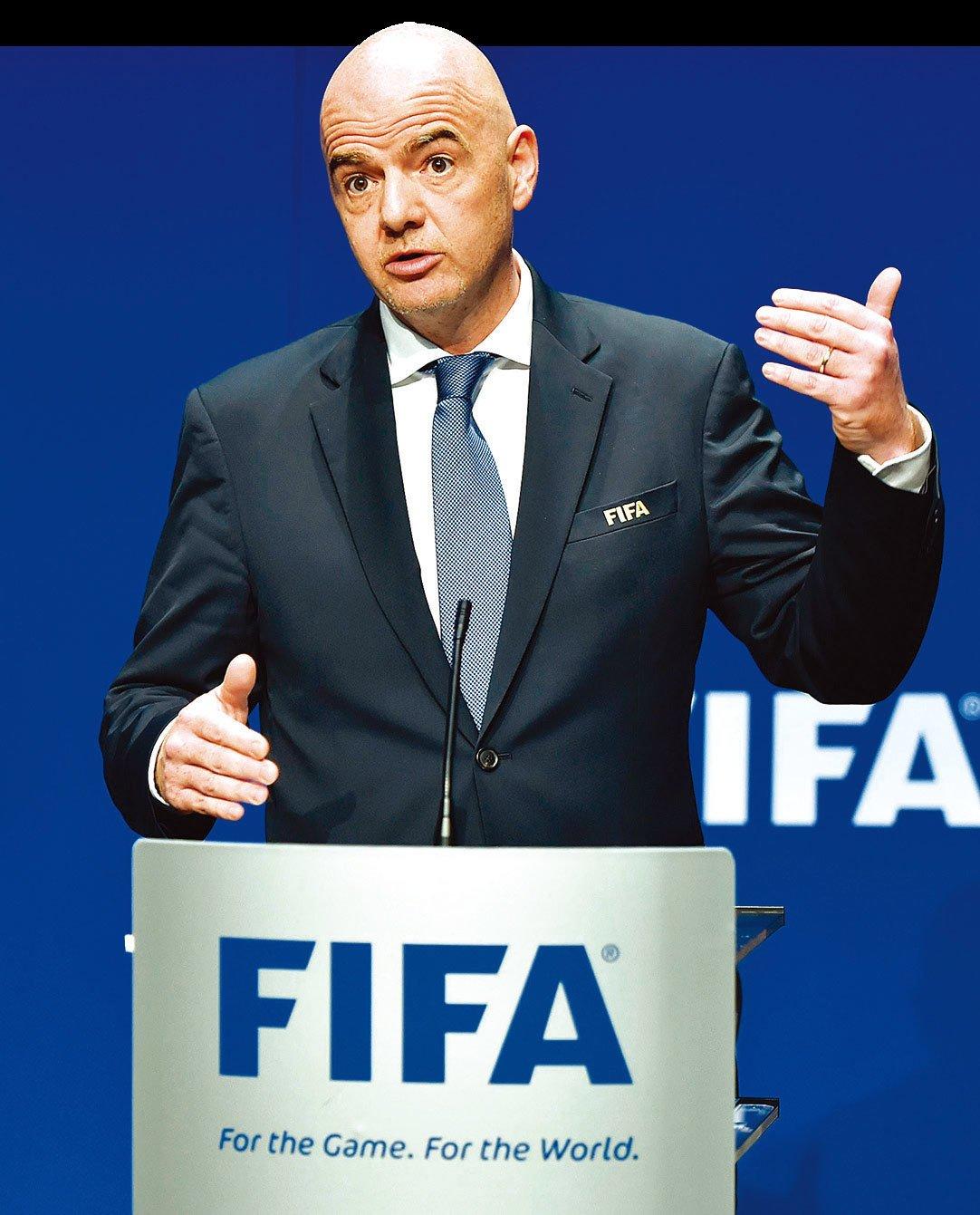 新任國際足聯主席因凡蒂諾上任後一直努力推動世界盃擴軍。(Getty Images)
