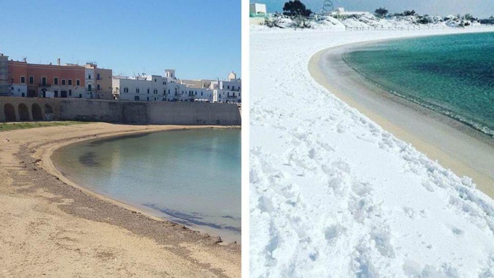 意溫暖海灘降雪 五百年前末日預言成真?