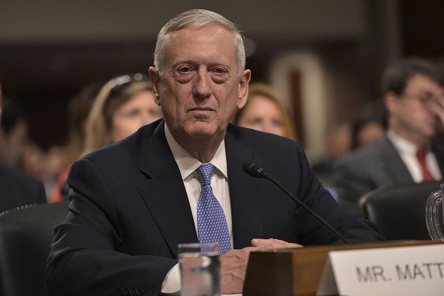 南韓和美國兩國國防部長今天通電話。圖為美國新任國防馬蒂斯。(MANDEL NGAN/AFP/Getty Images)