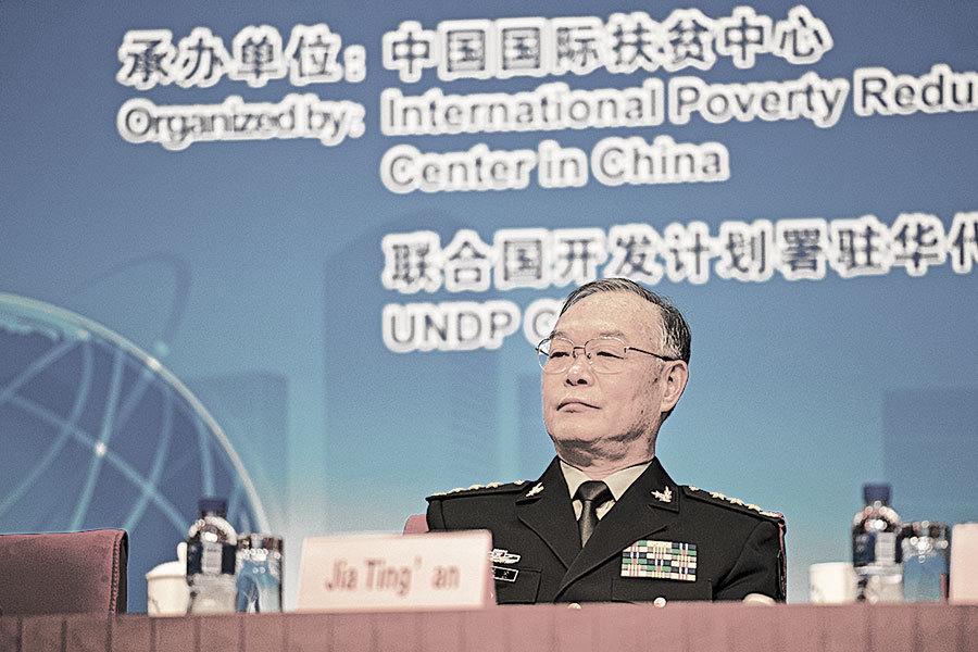 中共軍委政治工作部副主任賈廷安,不在中共十九大代表名單上。此前,外界多次傳他被調查。(網絡圖片)