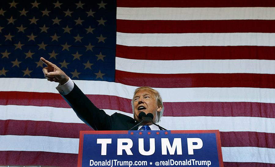 候任總統特朗普的對華強硬談話預示著中美從安全、貿易到網絡空間方方面面的對決。(Ralph Freso/Getty Images)