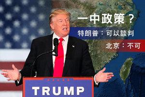 特朗普稱「一中政策」可談判 北京說不