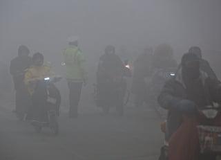 昨日起,大陸京津冀等10省市再遭新一輪陰霾重污染襲擊。(Getty Images)