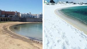 意溫暖海灘降雪 5百年前末日預言成真?